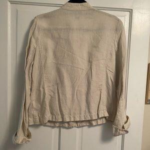 Eileen Fisher Jackets & Coats - Eileen Fisher Irish Linen Flax Jacket Blazer M